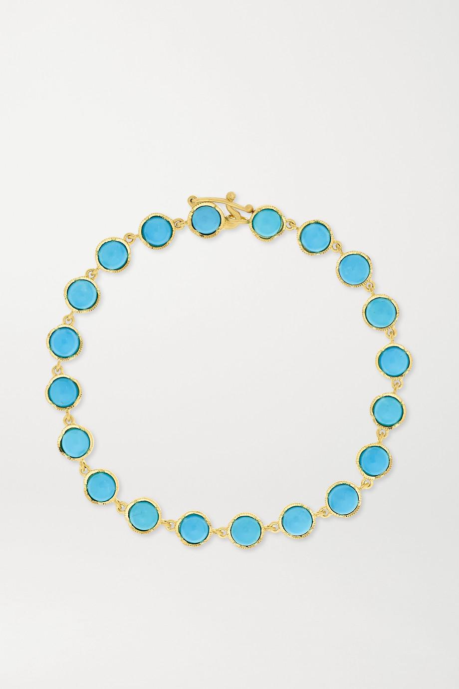 Irene Neuwirth Classic 18-karat gold turquoise bracelet