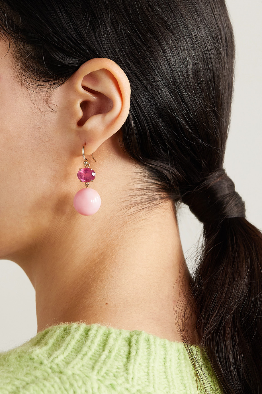 Irene Neuwirth Gemmy Gem Gumball 18-karat rose gold multi-stone earrings