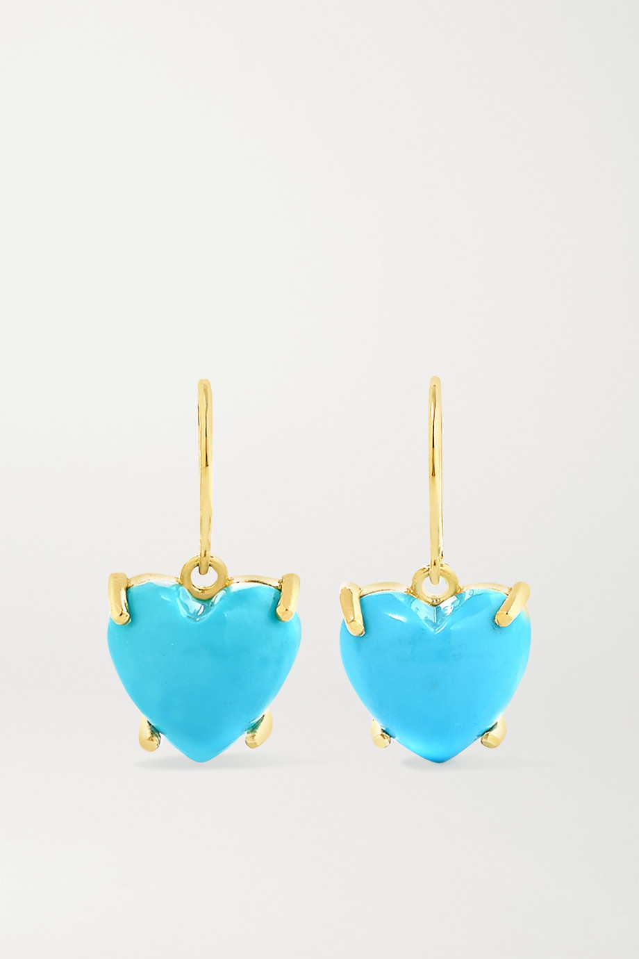Irene Neuwirth Love 18-karat gold turquoise earrings
