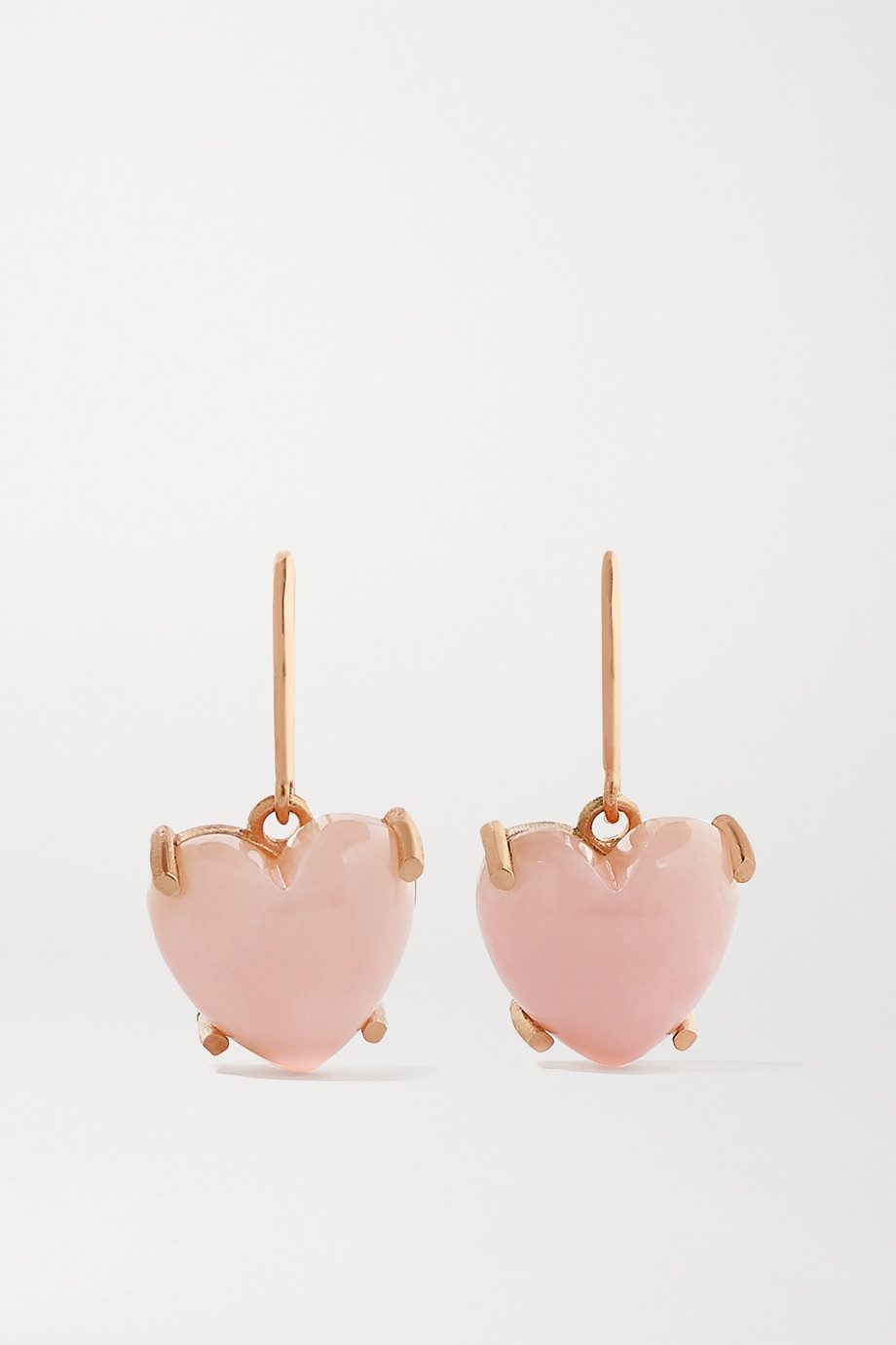 Irene Neuwirth Love 18-karat rose gold opal earrings