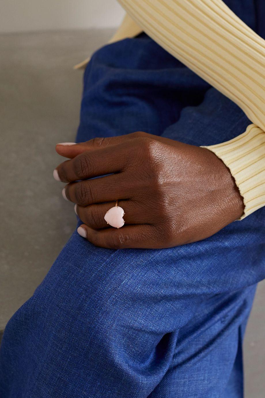 Irene Neuwirth Love 18-karat rose gold opal ring