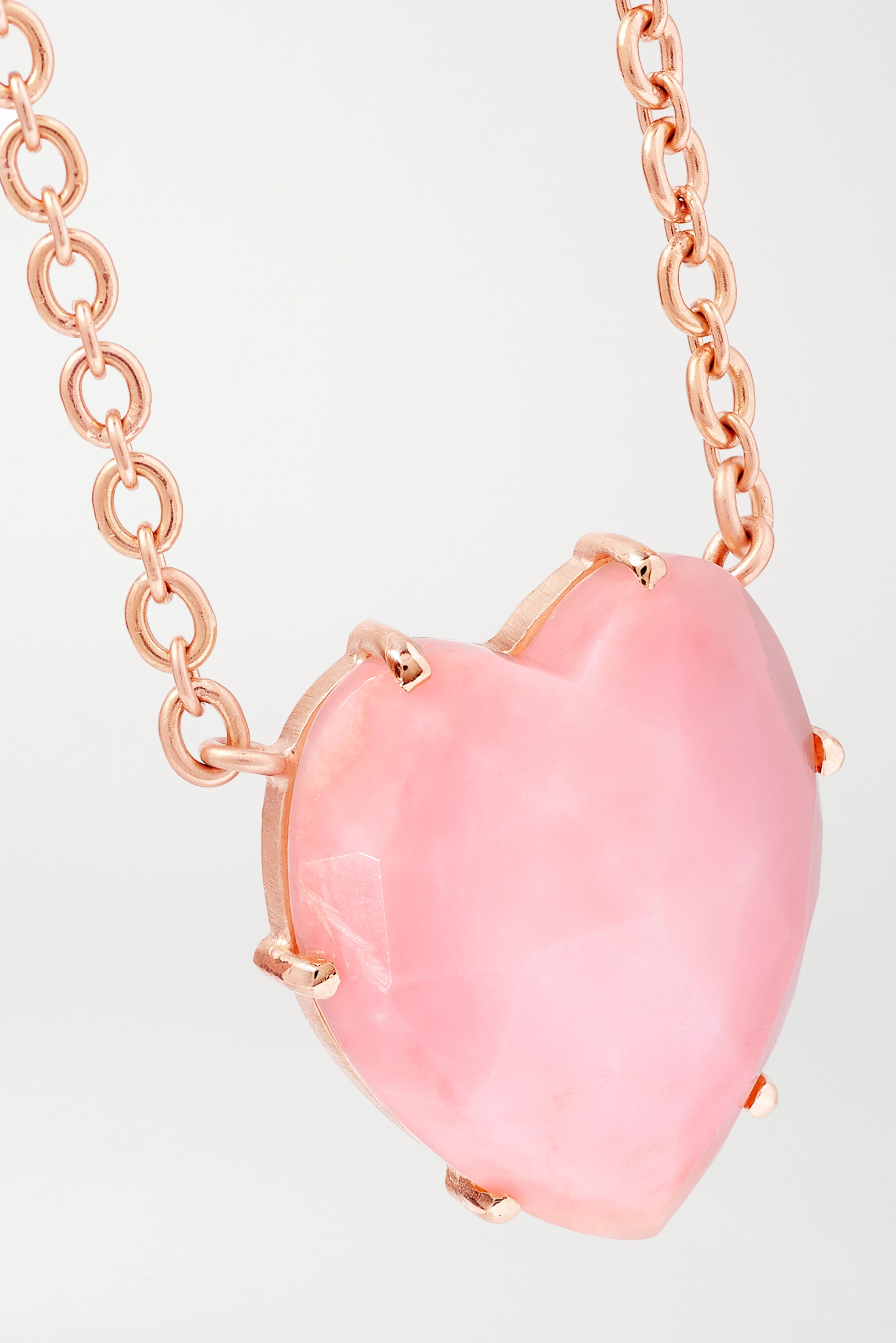 Irene Neuwirth Love 18-karat rose gold opal necklace