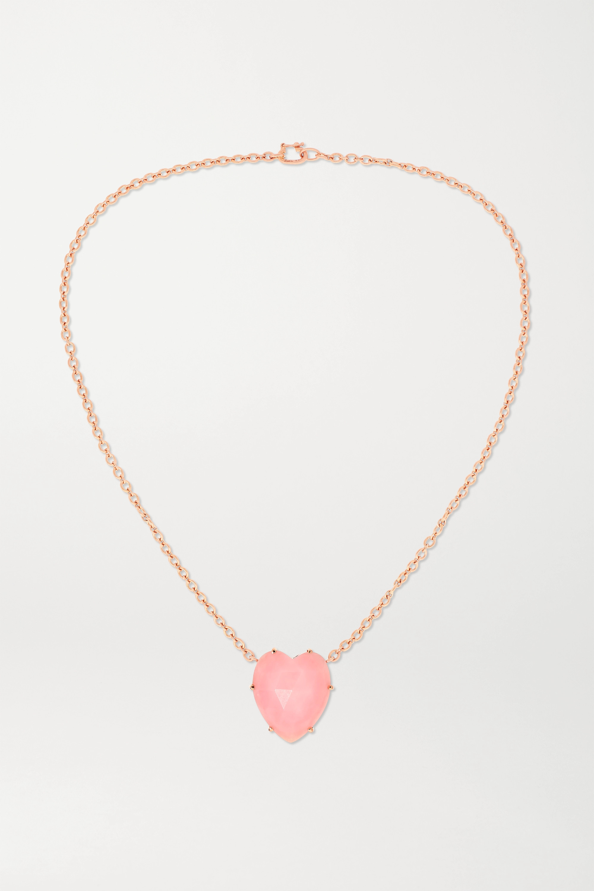 Irene Neuwirth Collier en or rose 18 carats et opale Love