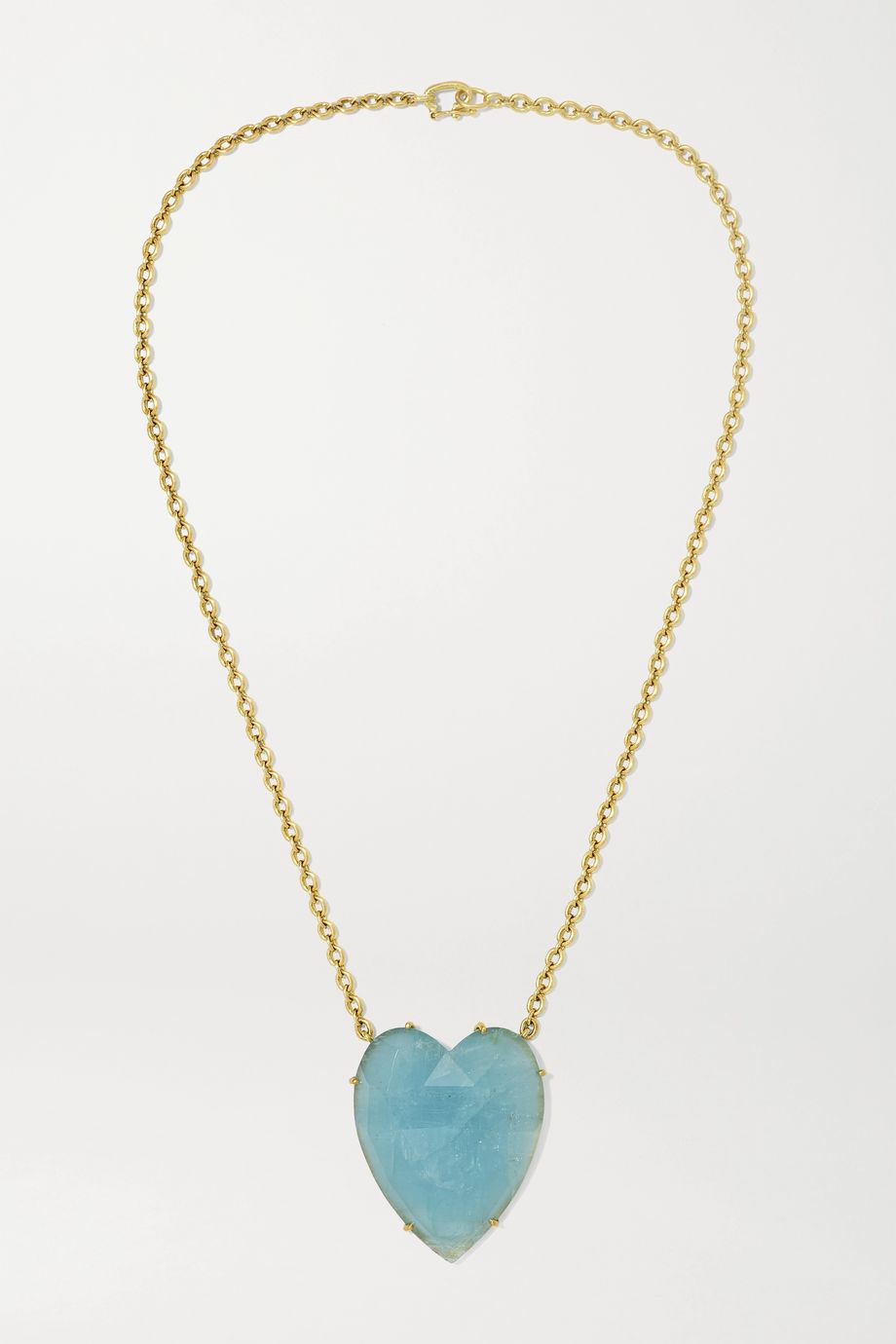 Irene Neuwirth Love 18-karat gold aquamarine necklace