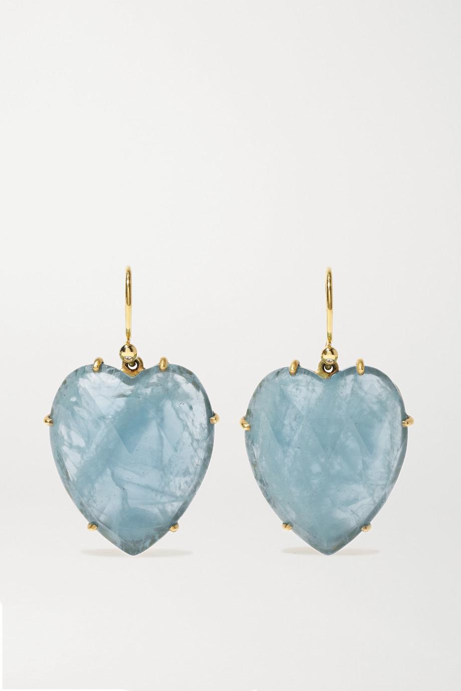 Irene Neuwirth Love 18-karat gold aquamarine earrings