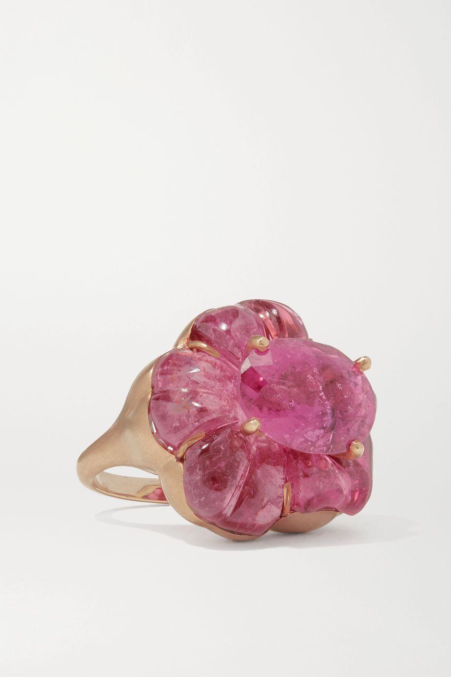 Irene Neuwirth Tropical Flower 18-karat rose gold tourmaline ring