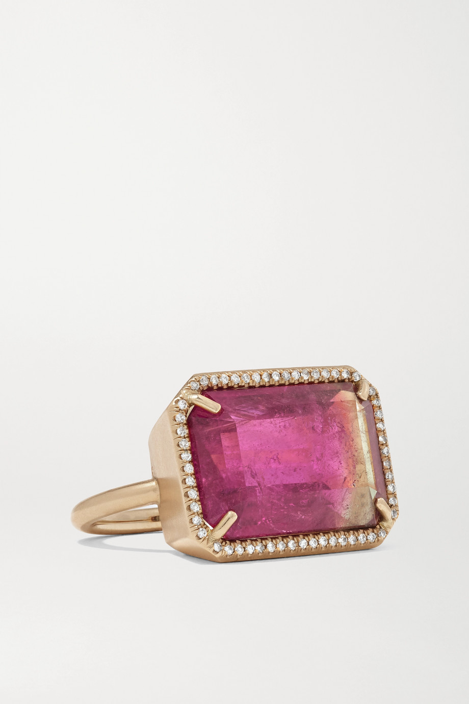 Irene Neuwirth Gemmy Gem 18-karat rose gold, tourmaline and diamond ring