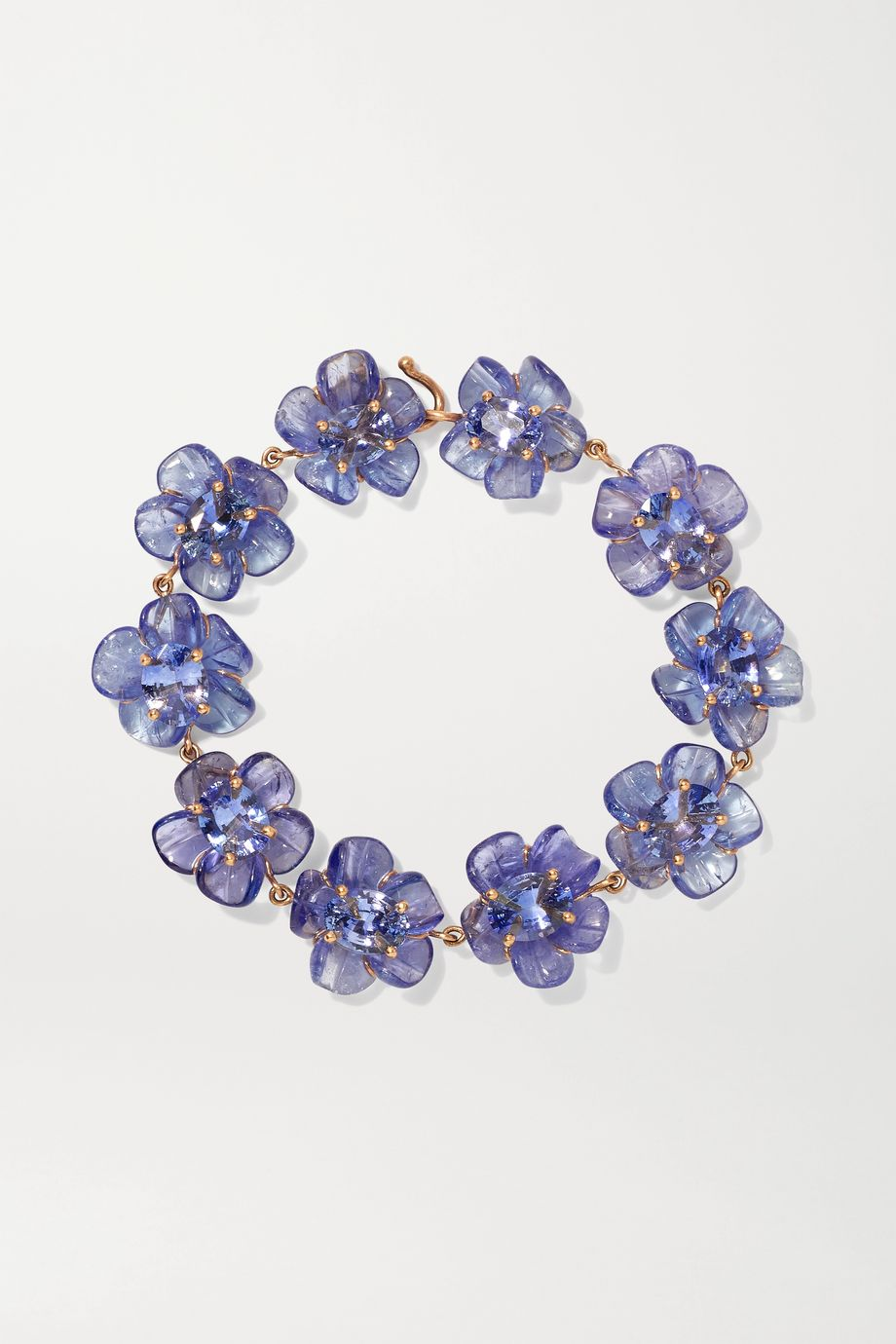 Irene Neuwirth Tropical Flower 18-karat rose gold, tanzanite and sapphire bracelet