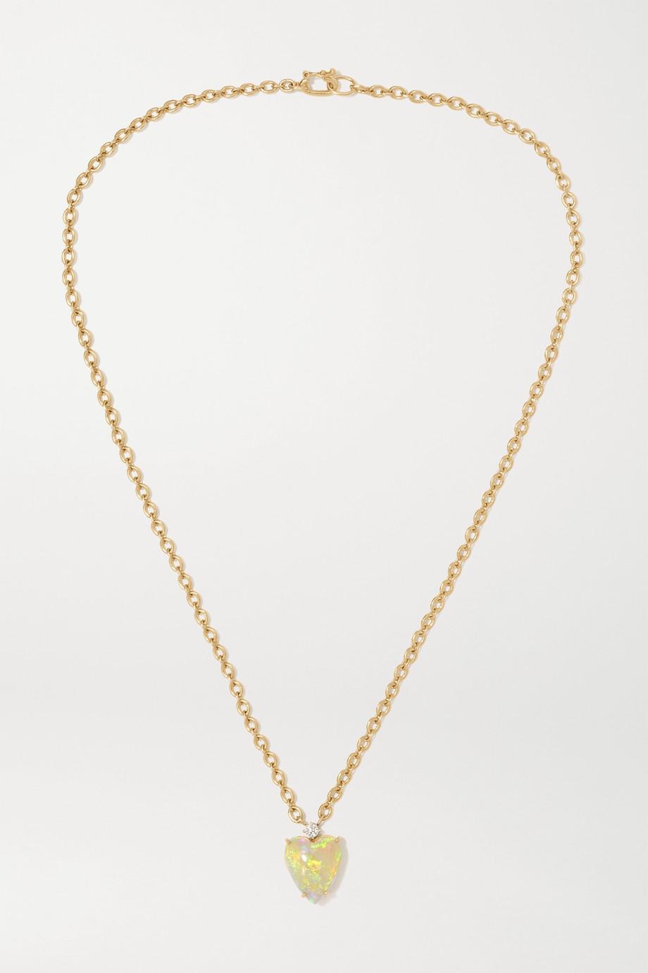 Irene Neuwirth Love 18-karat gold, diamond and opal necklace