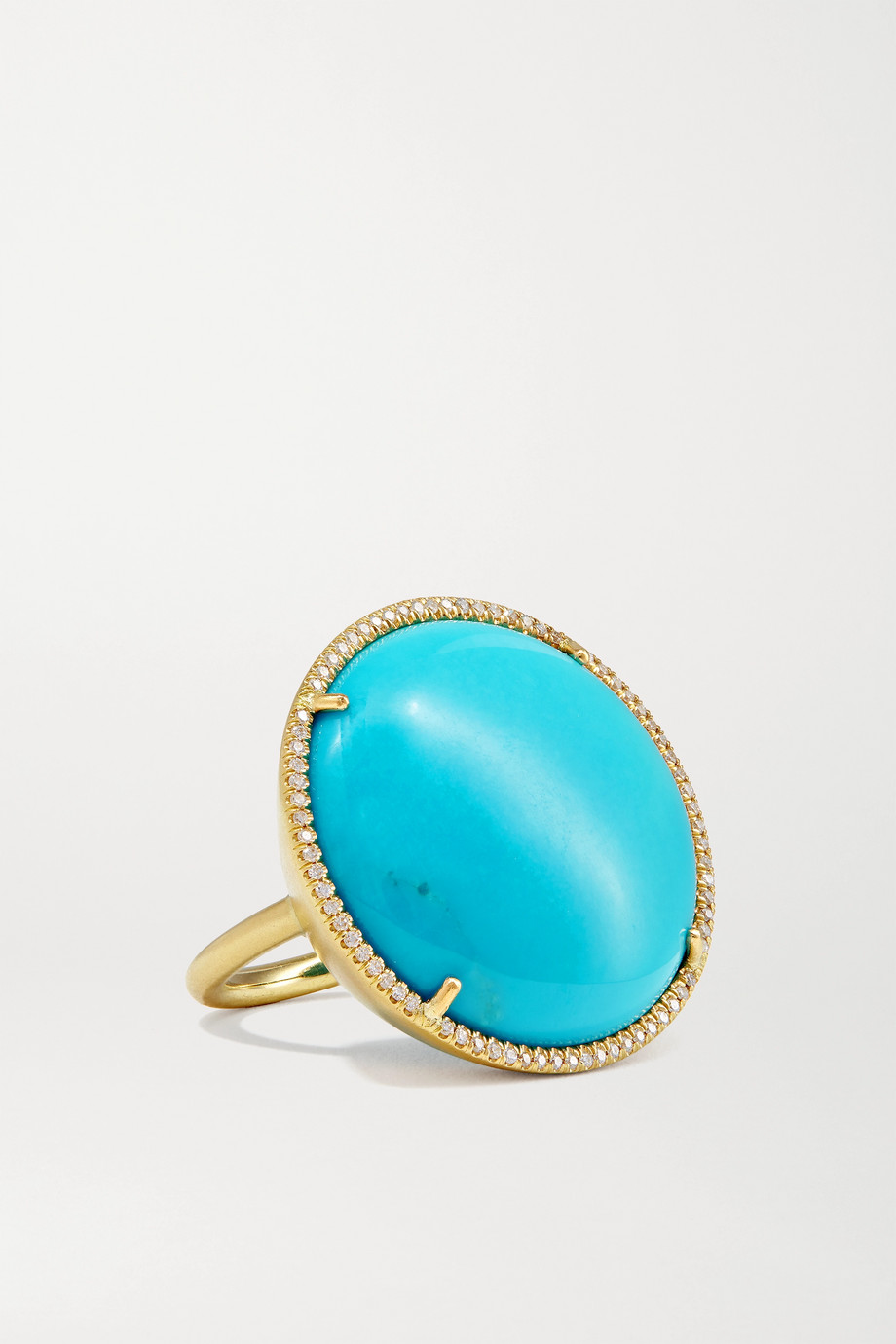 Irene Neuwirth Classic 18-karat gold, turquoise and diamond ring