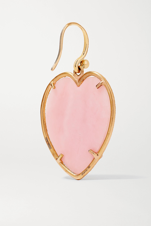 Irene Neuwirth Love 18-karat rose gold, opal and diamond earrings