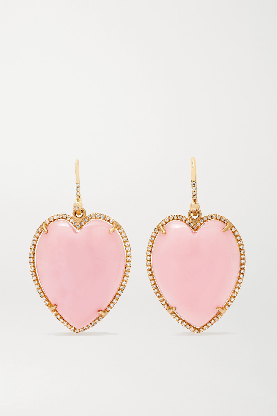 Irene Neuwirth Love 18-karat rose gold, opal and diamond earrings