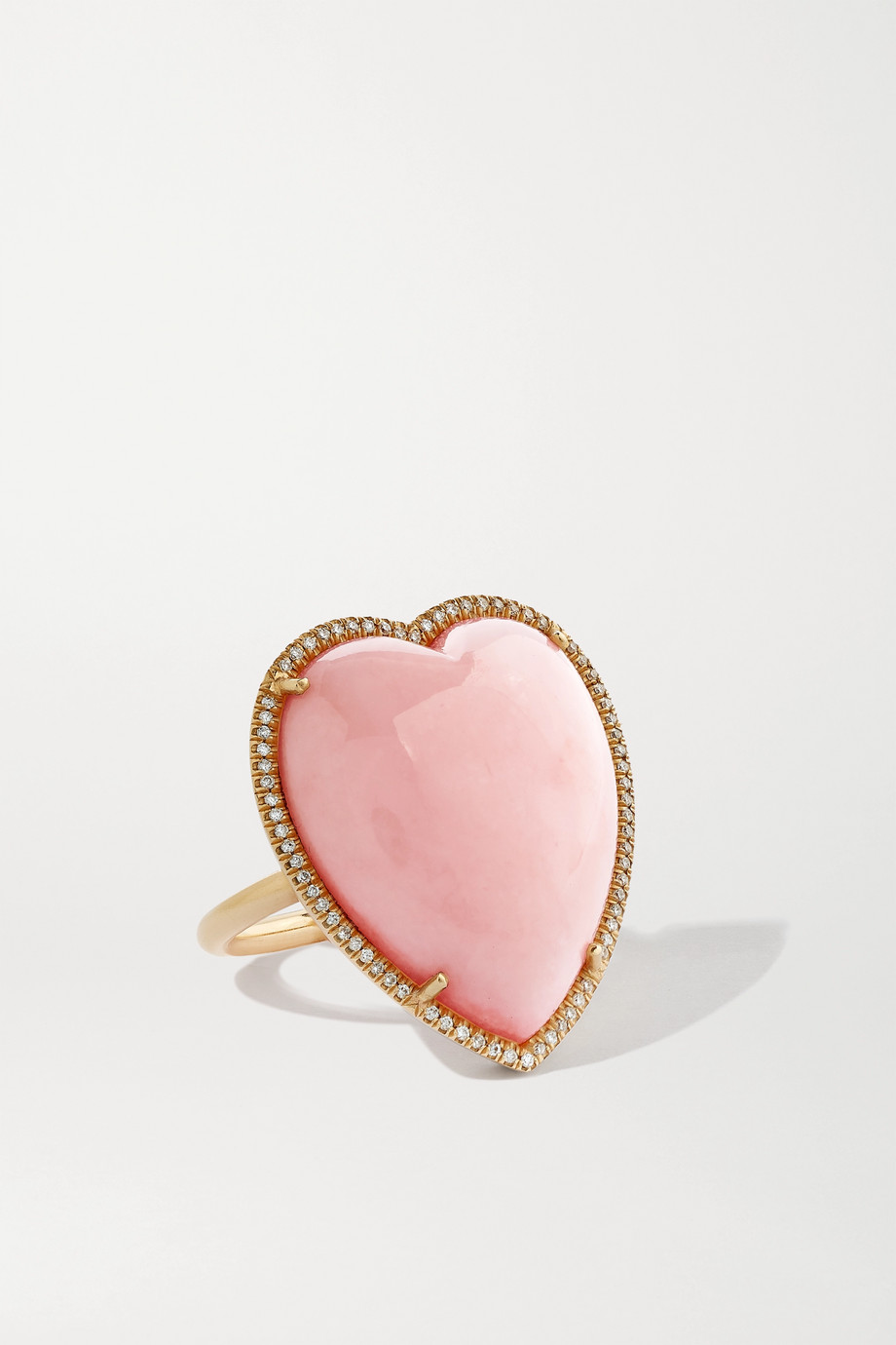 Irene Neuwirth Bague en or rose 18 carats, opale et diamants Love