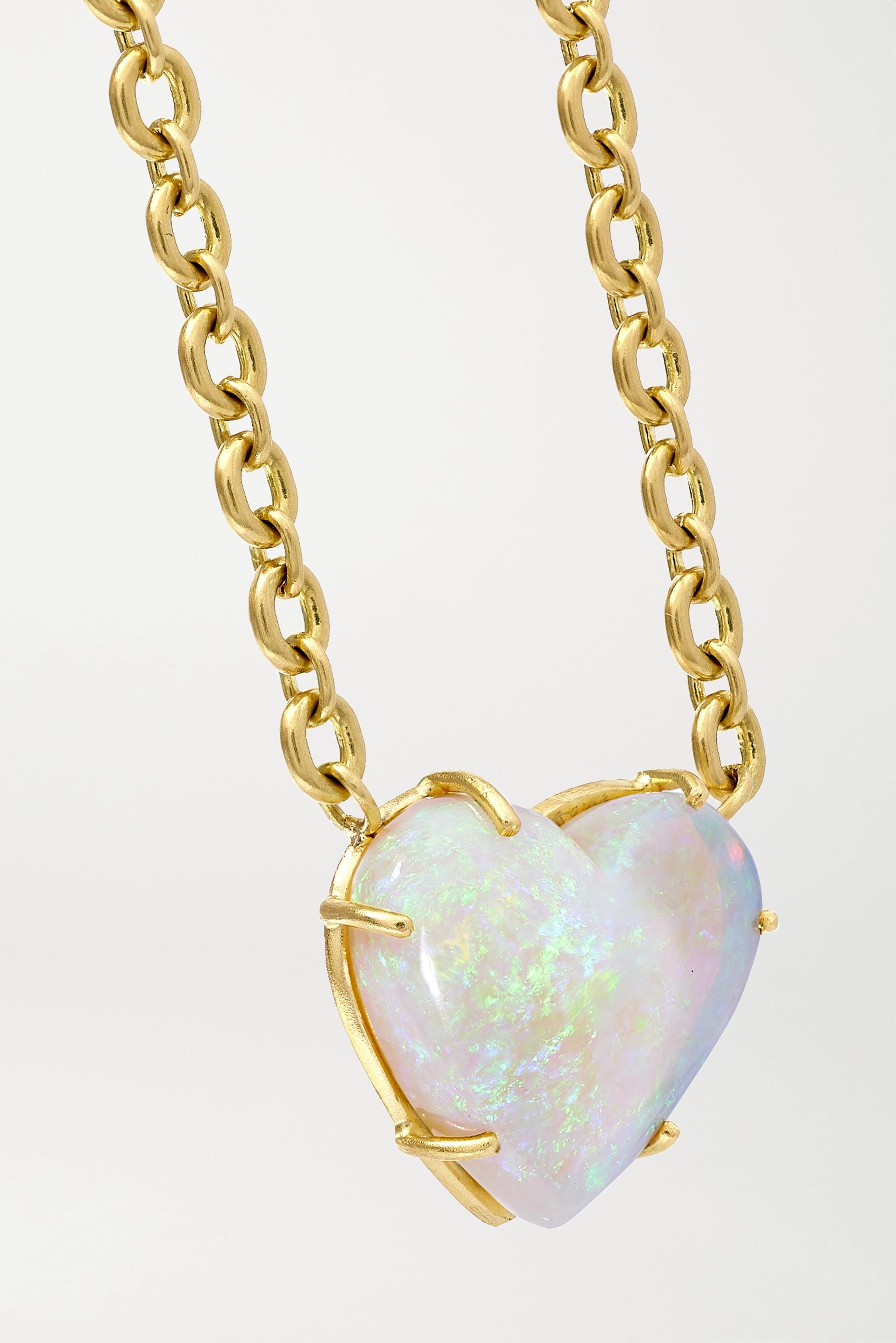 Irene Neuwirth Collier en or 18 carats et opale Love