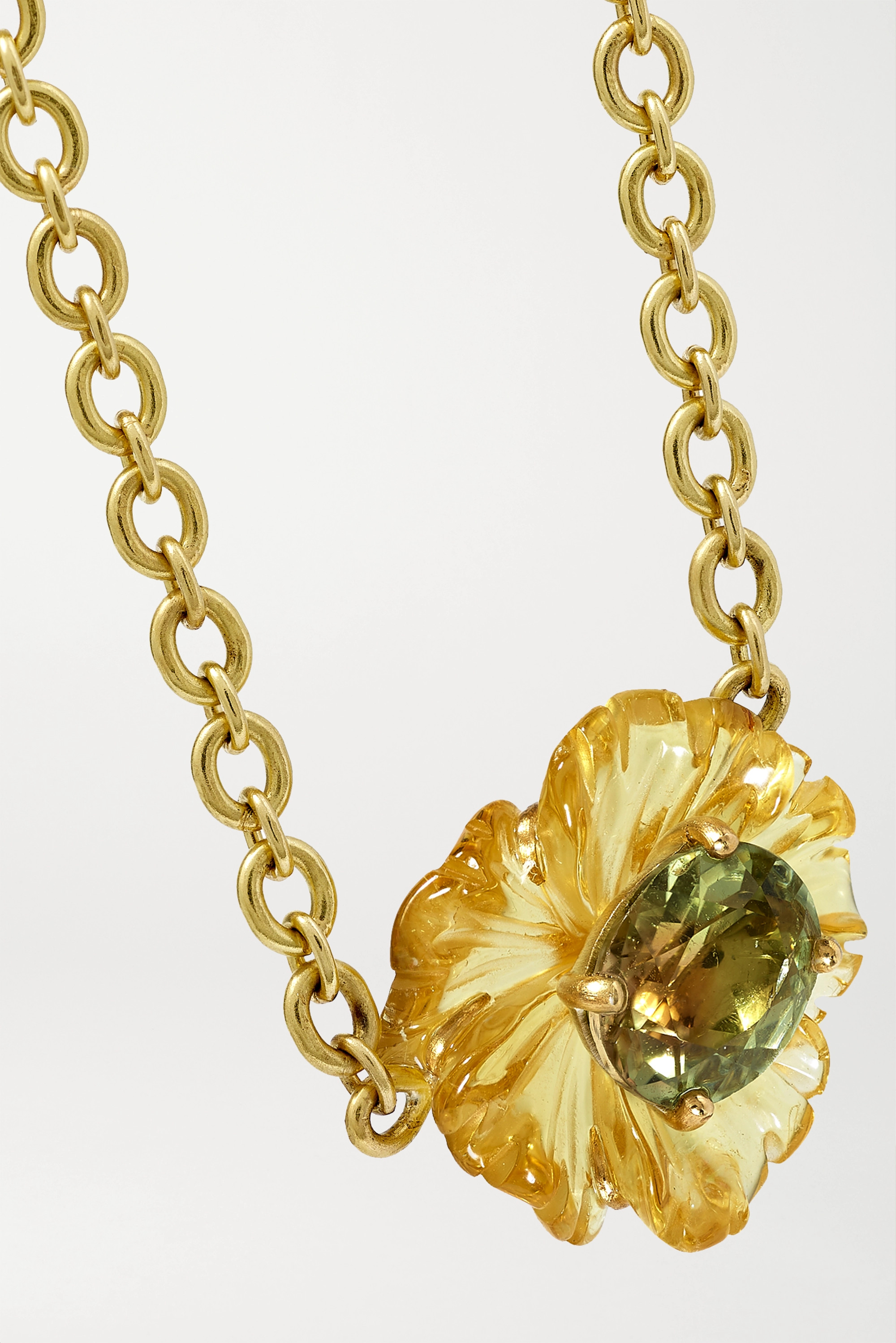 Irene Neuwirth Collier en or 18 carats et tourmalines Tropical Flower