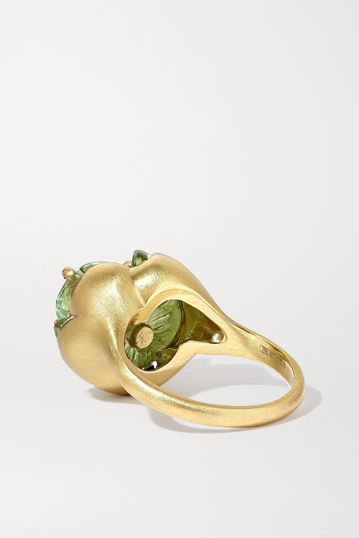 Irene Neuwirth Tropical Flower 18-karat gold tourmaline ring