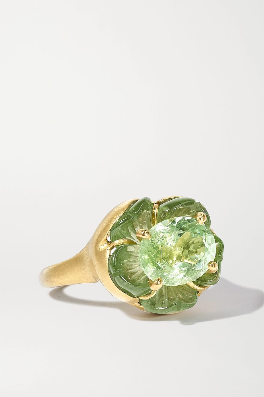 Irene Neuwirth Tropical Flower 18-karat gold tourmaline ring
