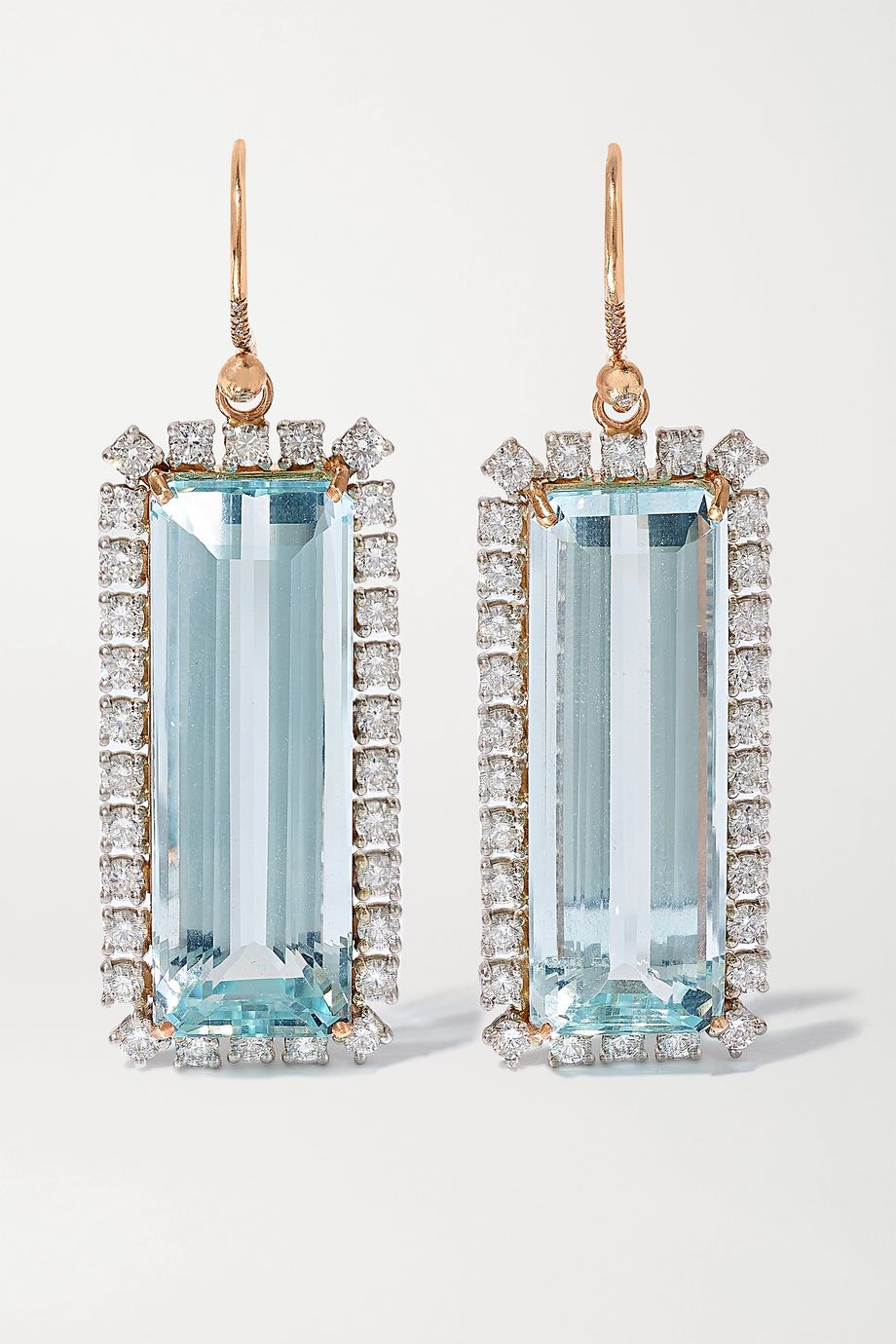 Irene Neuwirth Gemmy Gem 18-karat white and yellow gold, aquamarine and diamond earrings