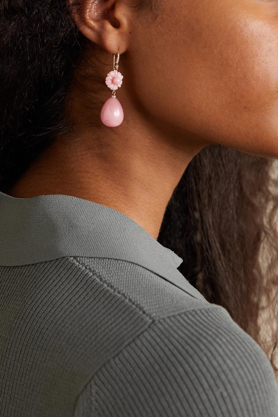 Irene Neuwirth Tropical Flower 18-karat rose gold multi-stone earrings