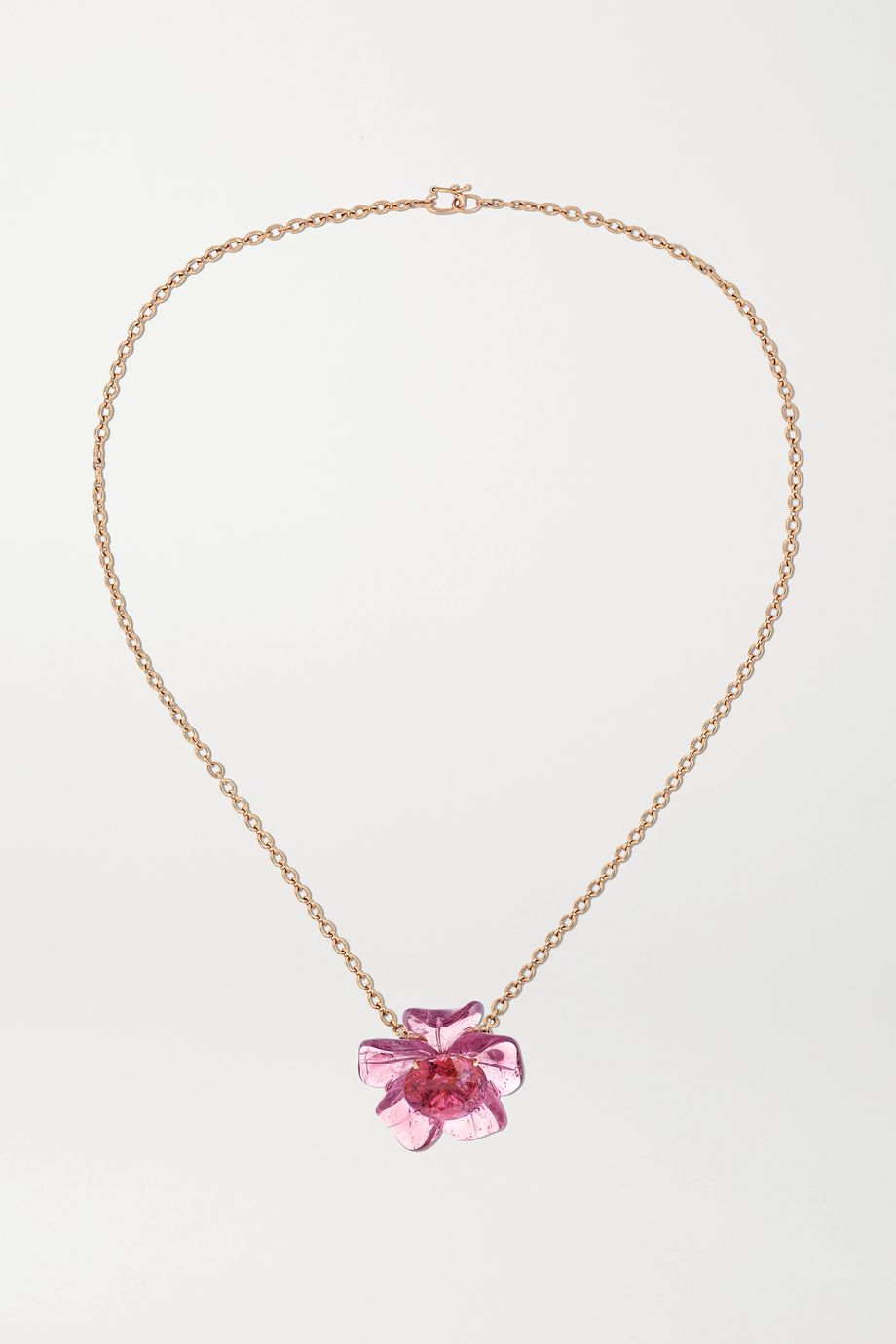 Irene Neuwirth Tropical Flower 18-karat rose gold tourmaline necklace