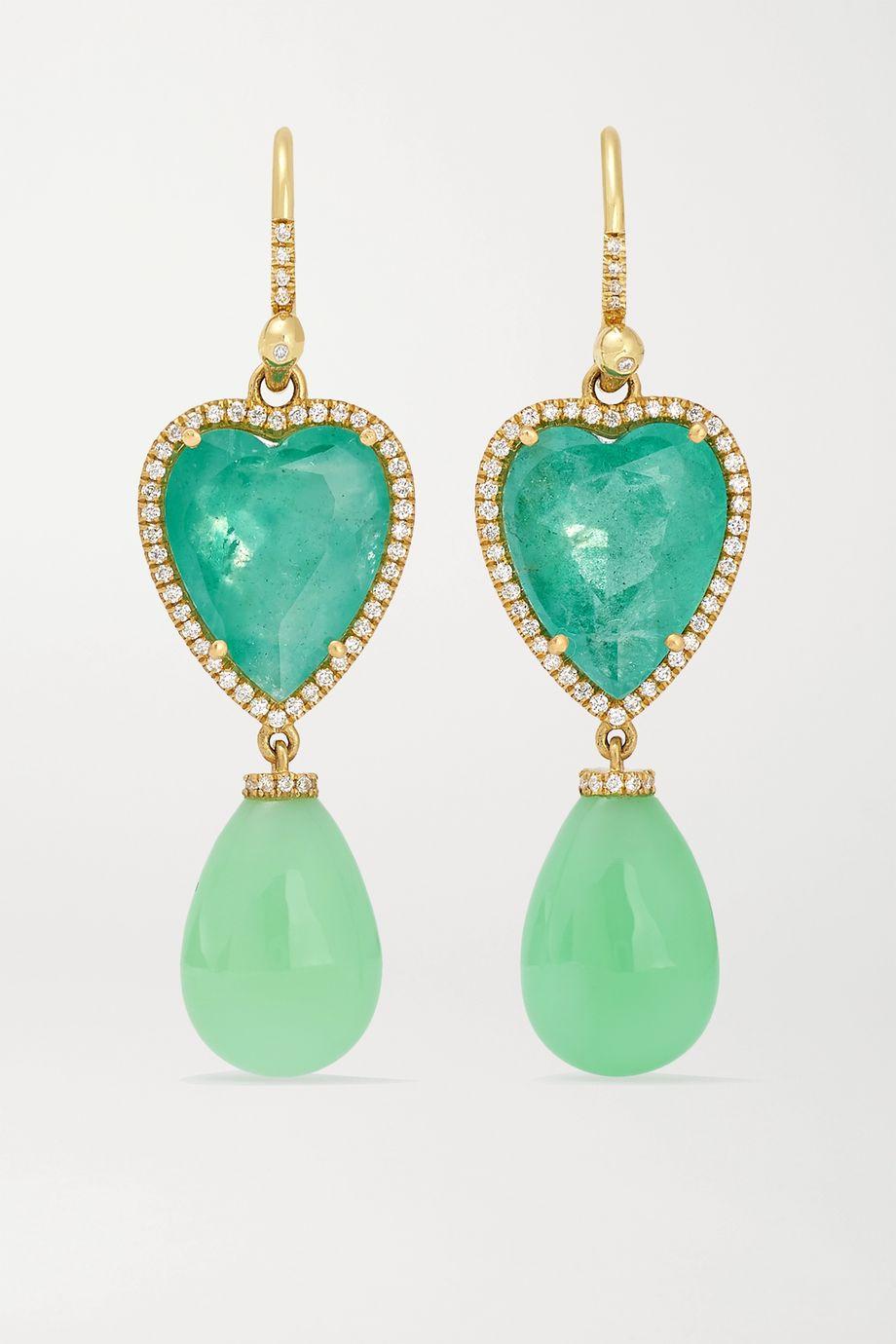 Irene Neuwirth 18-karat gold multi-stone earrings