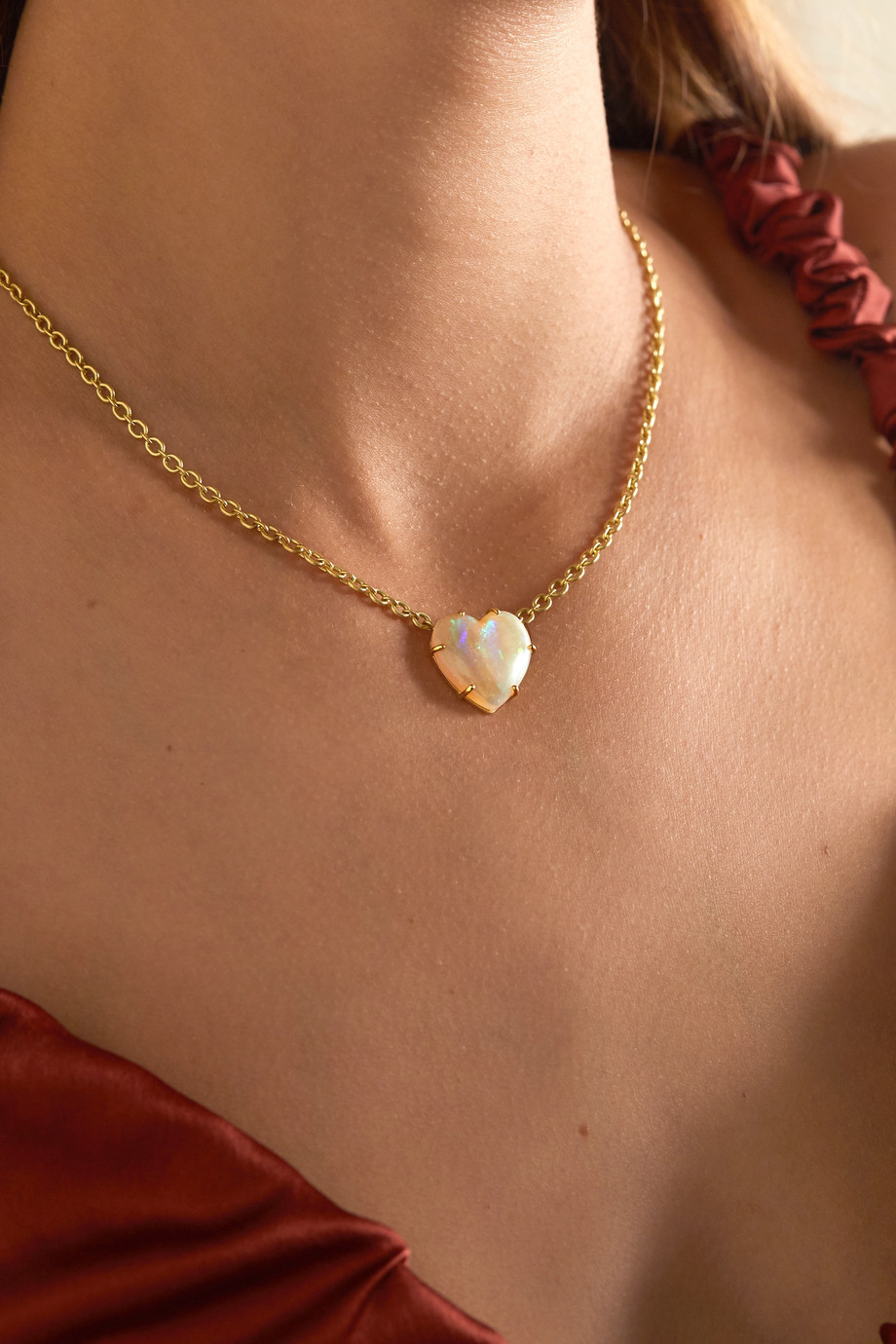 Irene Neuwirth Love 18-karat gold opal necklace