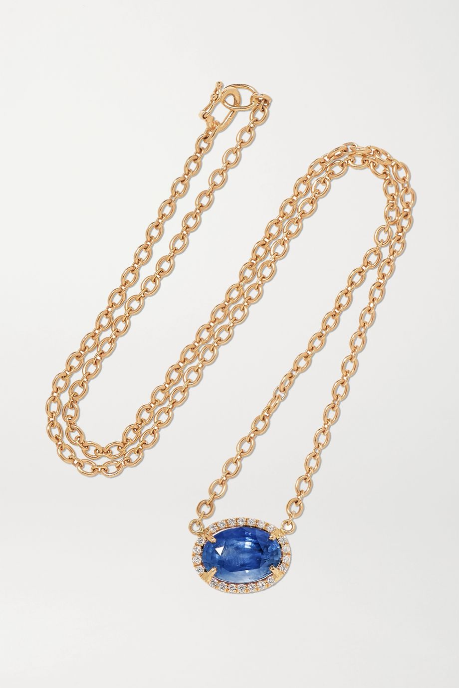 Irene Neuwirth Gemmy Gem 18-karat rose gold, sapphire and diamond necklace