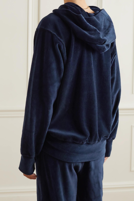 Les Tien Cotton-blend velour hoodie
