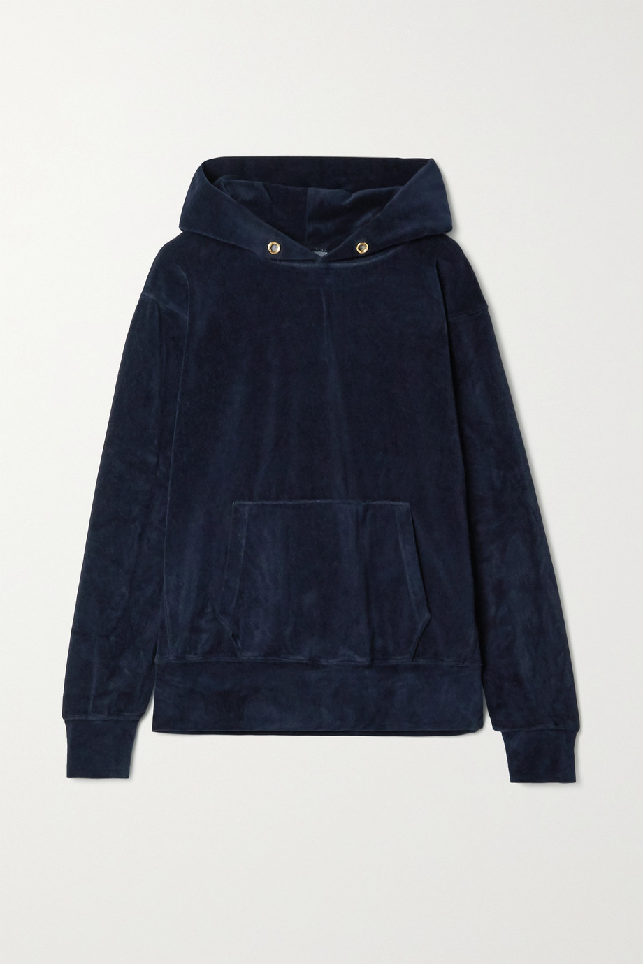 Les Tien Cotton-blend velour hoodie