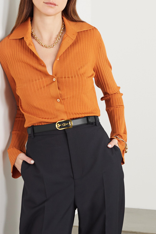 Gucci + NET SUSTAIN Horsebit-detailed leather waist belt