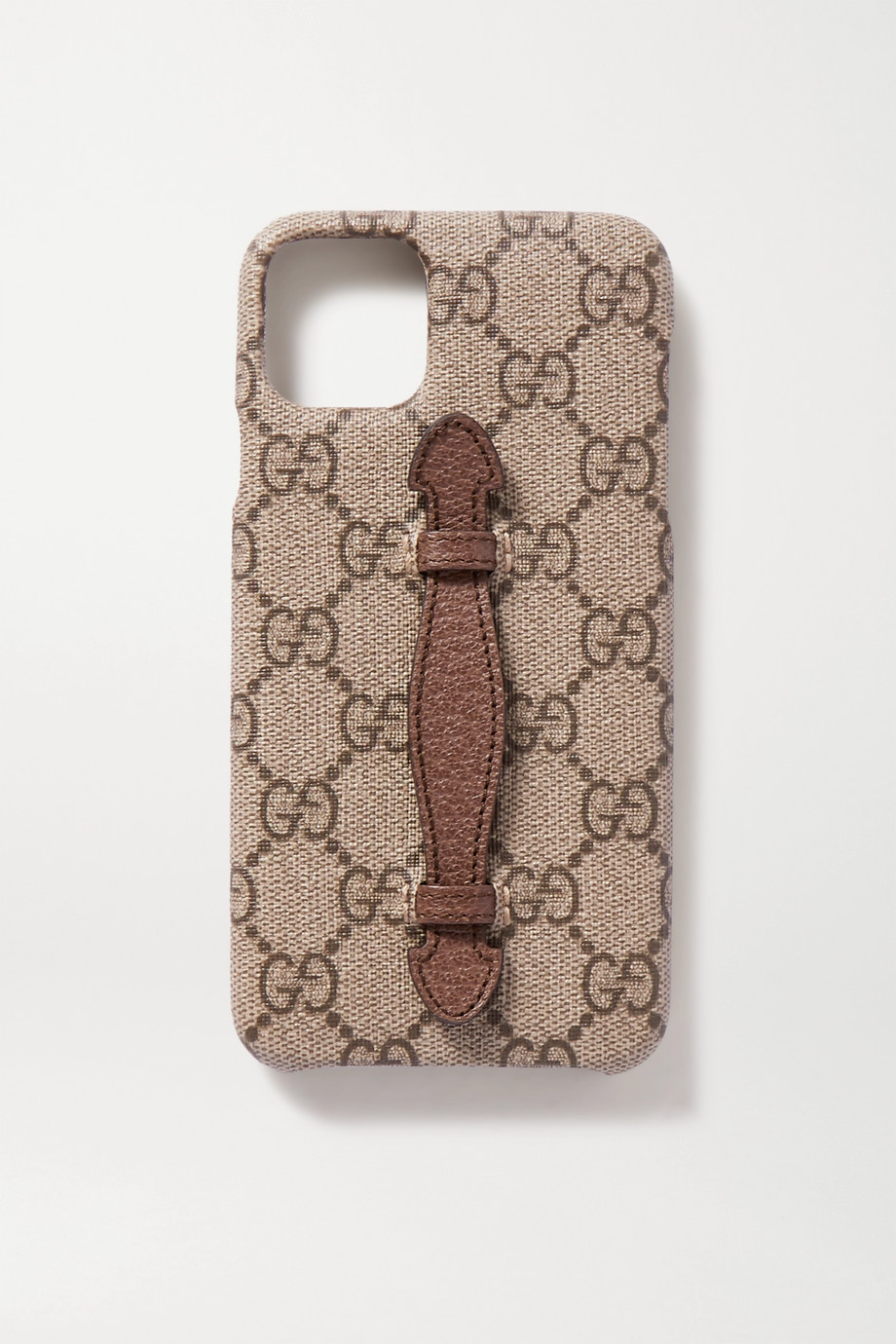 Gucci Textured leather-trimmed printed coated-canvas iPhone 11 Pro Max case