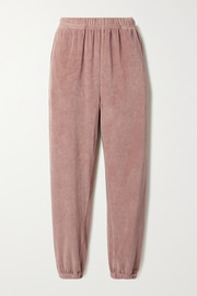 Les Tien Cotton-blend velour track pants