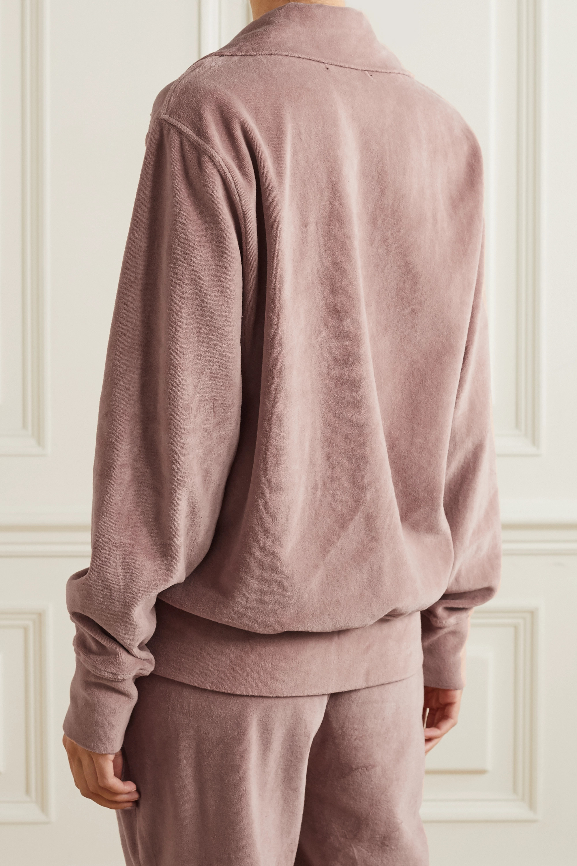 Les Tien Cotton-blend velour sweatshirt