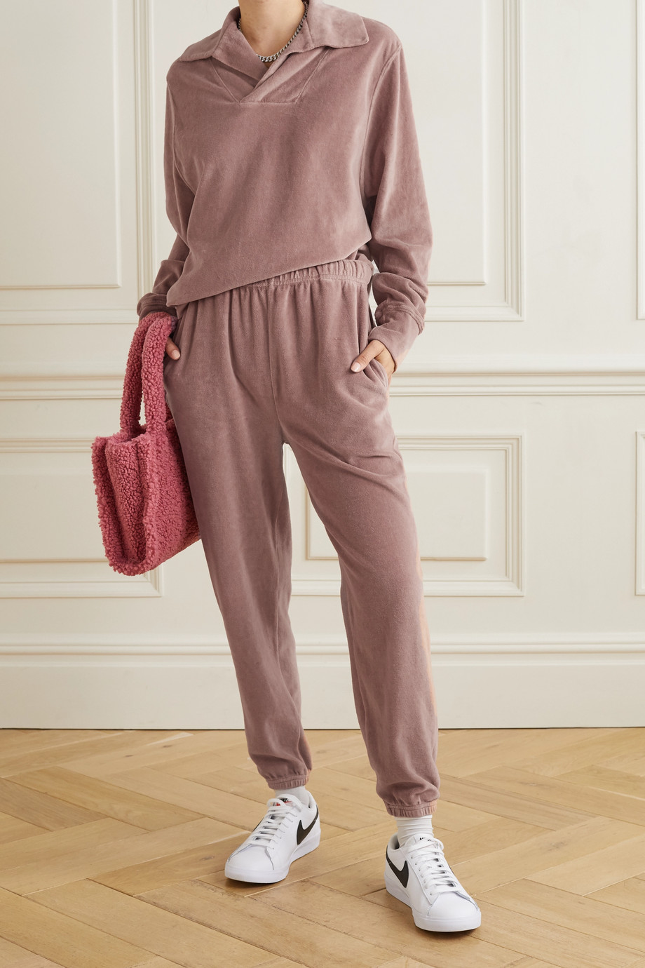 Les Tien Cotton-blend velour sweatshirt