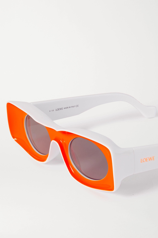 Loewe + Paula's Ibiza square-frame neon acetate sunglasses