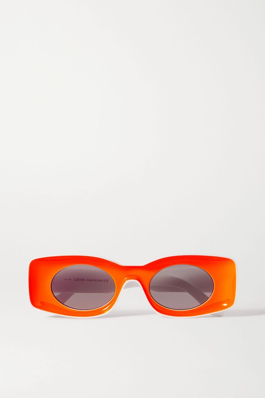 Loewe Lunettes de soleil carrées en acétate fluo x Paula's Ibiza