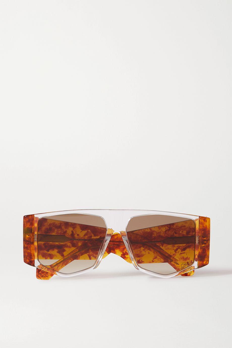 Loewe 超大款板材 D 形框太阳镜