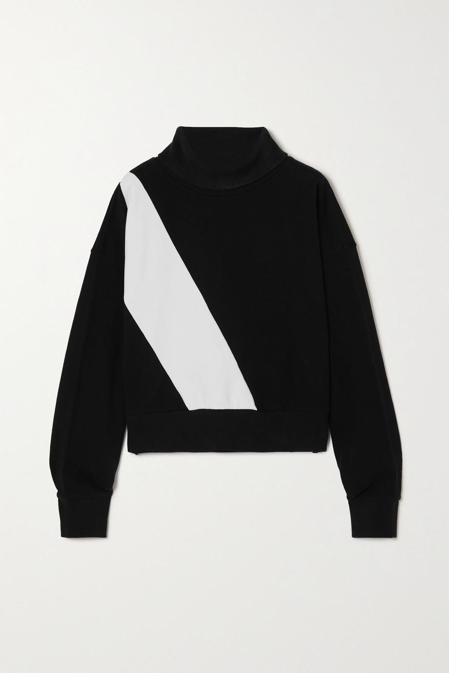 AARMY Zweifarbiges Sweatshirt aus Baumwoll-Jersey mit Rollkragen