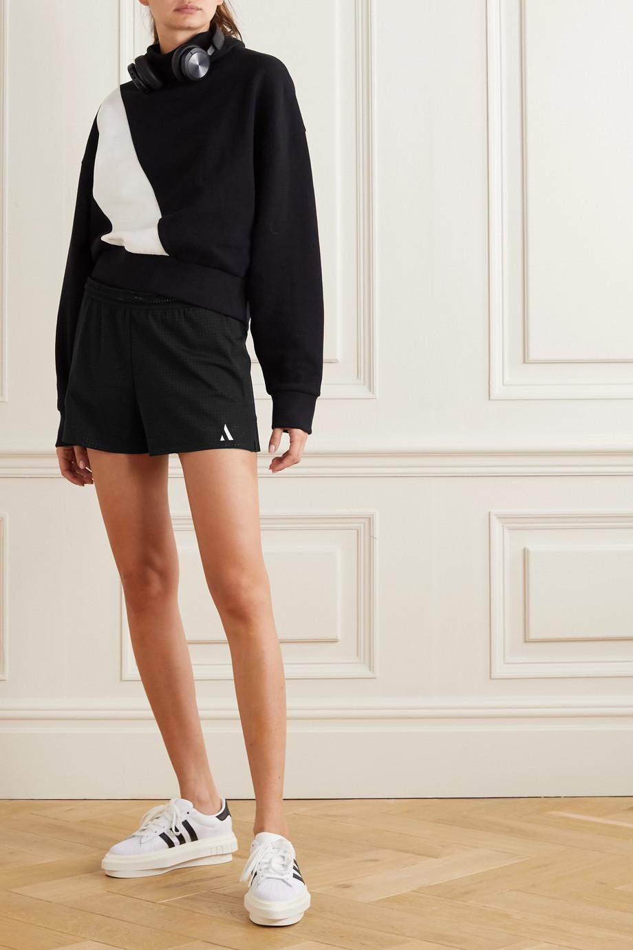 AARMY Shorts aus perforiertem Stretch-Material mit Print