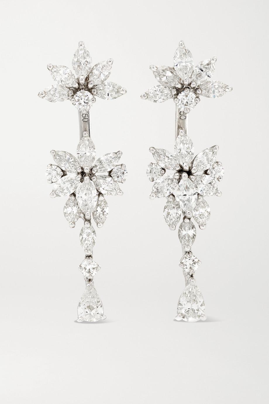 YEPREM 18-karat white gold diamond earrings