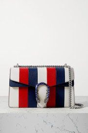 Gucci + NET SUSTAIN Dionysus small striped leather shoulder bag