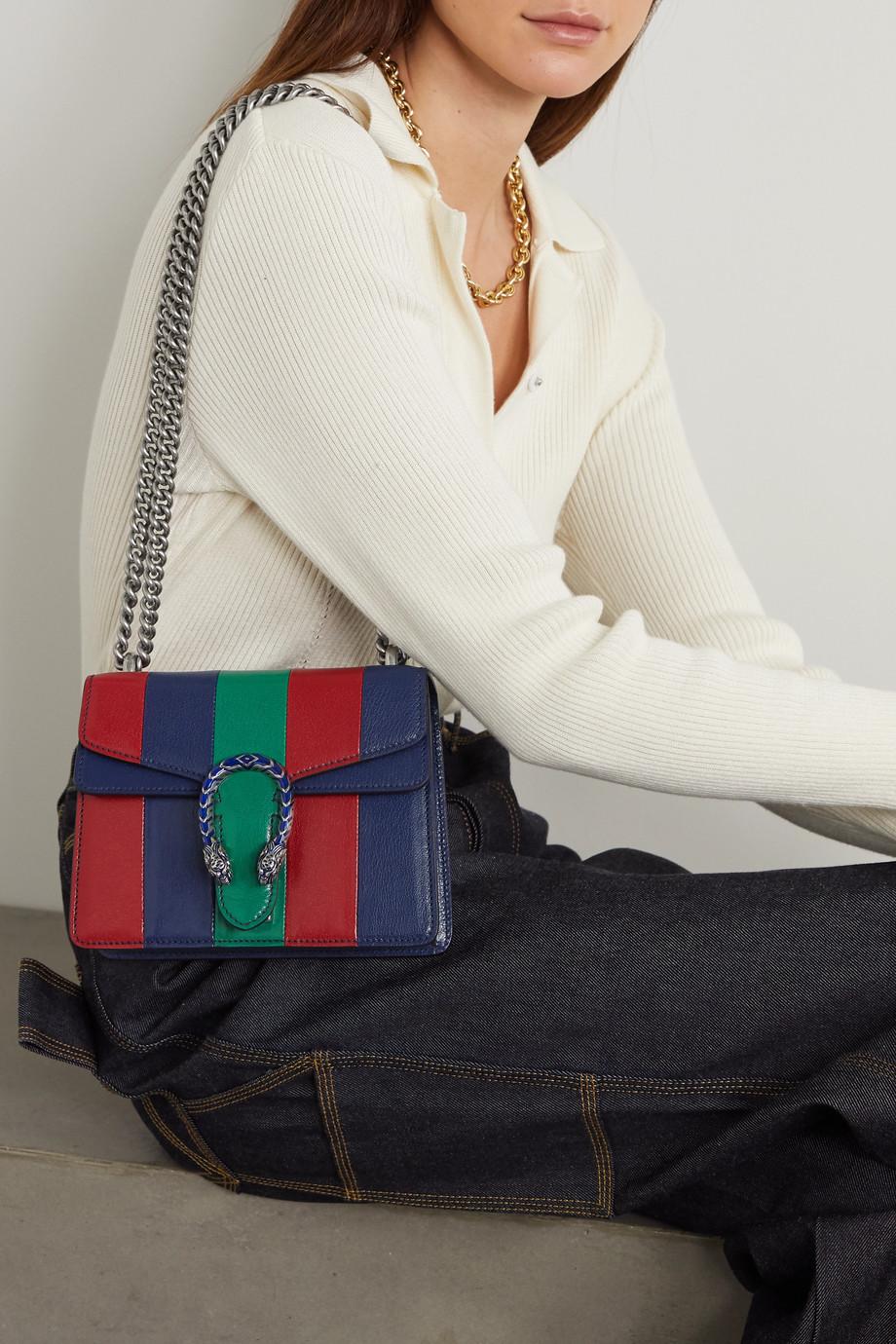 Gucci Sac porté épaule en cuir à rayures Dionysus Extra Small - NET SUSTAIN