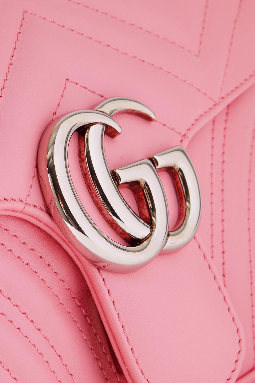 Gucci GG Marmont 绗缝皮革小号单肩包