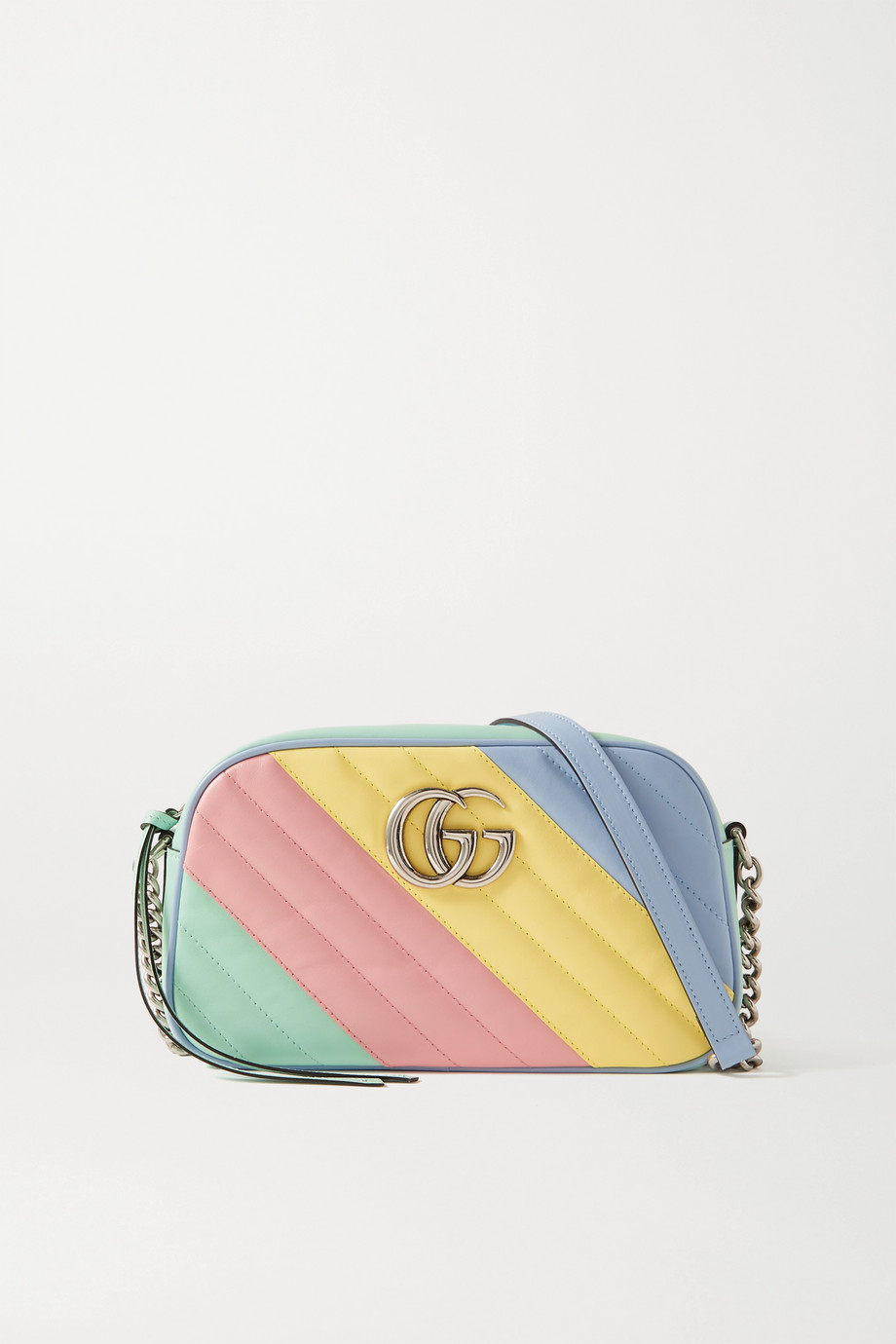 Gucci GG Marmont Camera color-block quilted leather shoulder bag