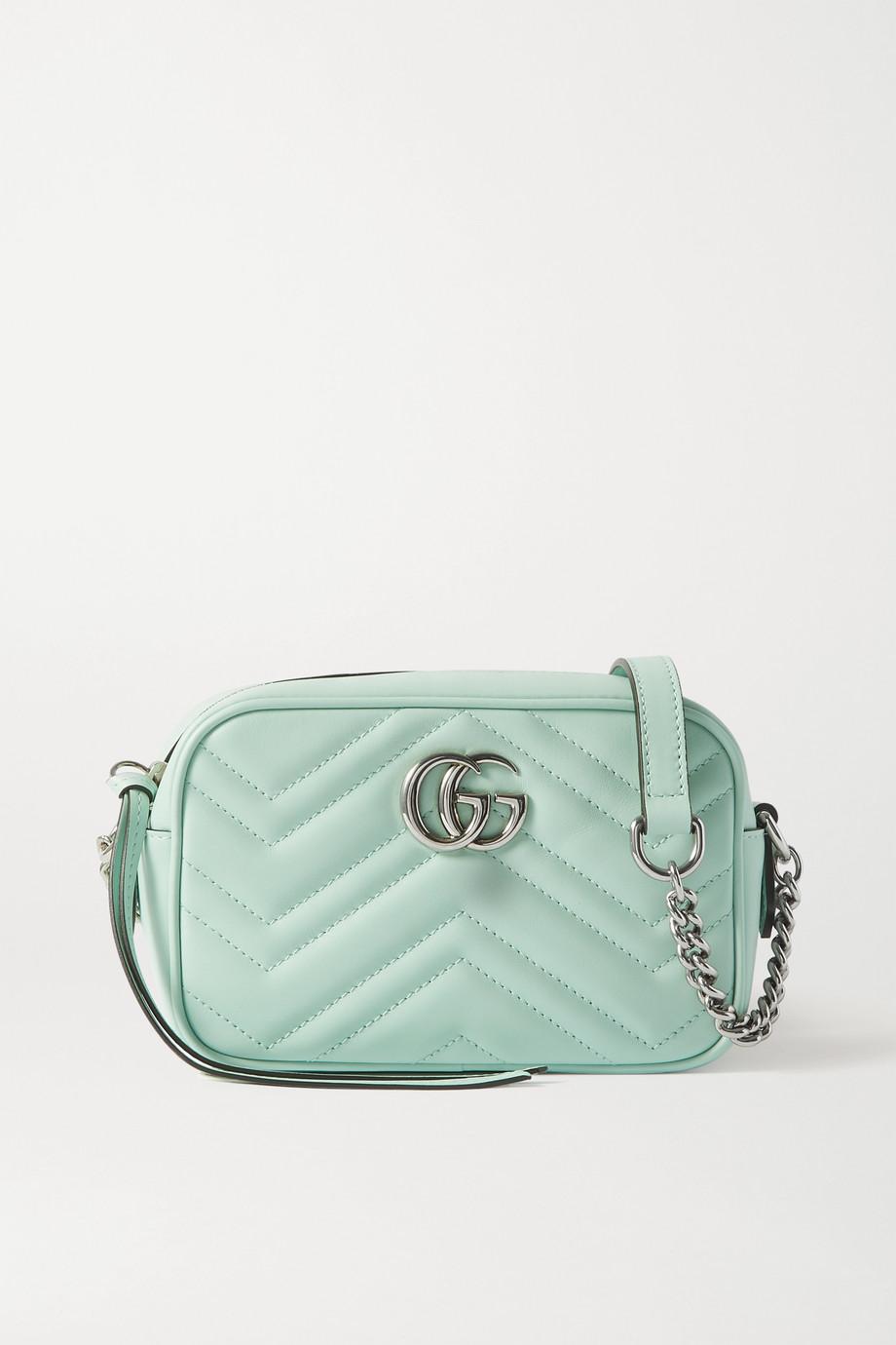 Gucci GG Marmont Camera 绗缝皮革迷你单肩包