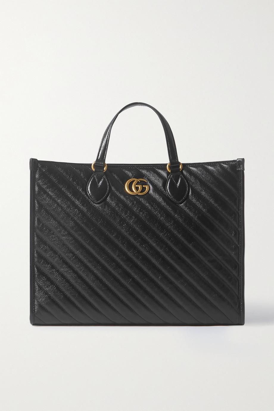 Gucci GG Marmont mittelgroße Tote aus gestepptem Leder