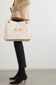 Gucci + NET SUSTAIN 1955 Horsebit large textured-leather tote