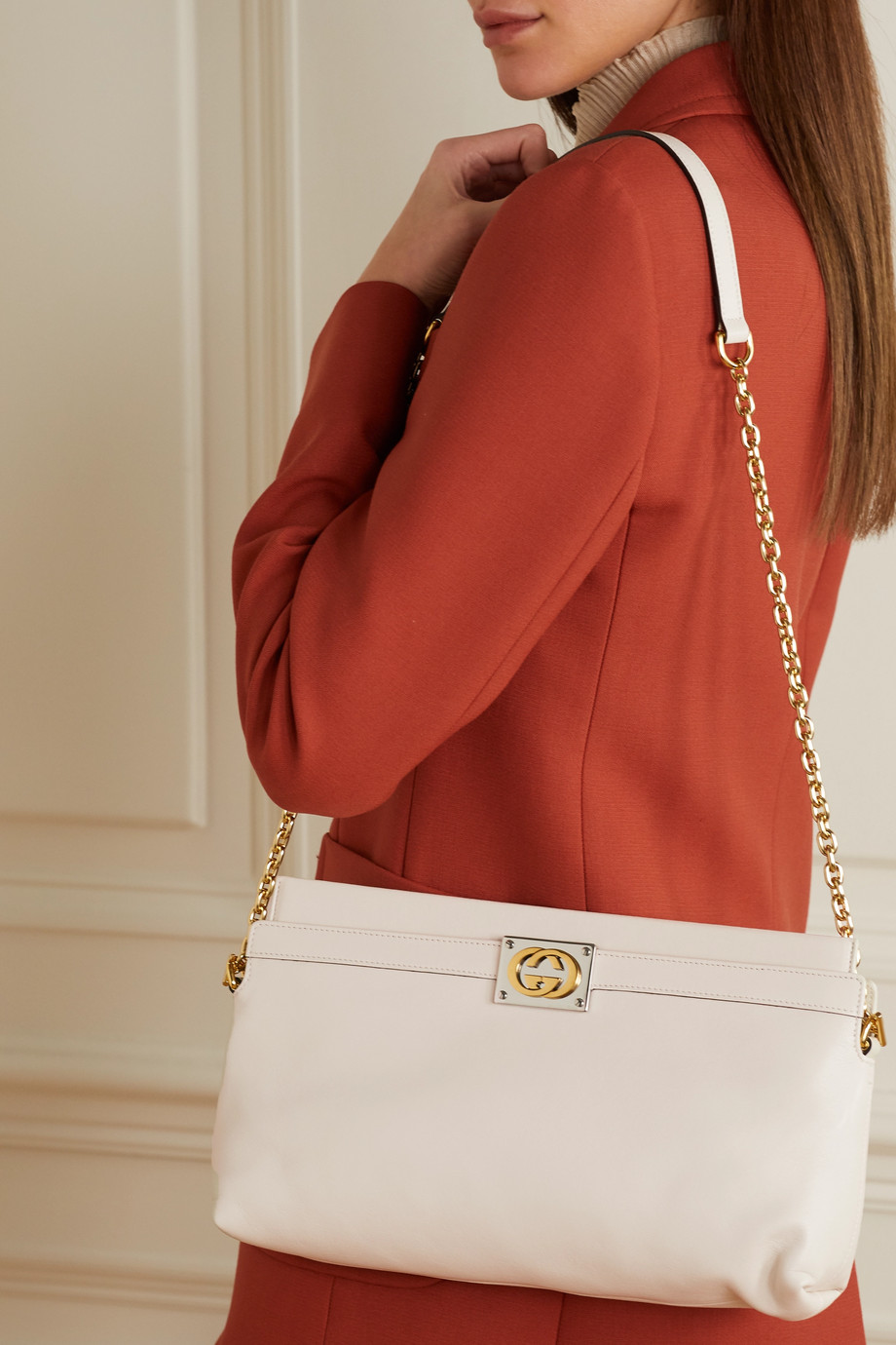Gucci + NET SUSTAIN Matisse Schultertasche aus Leder