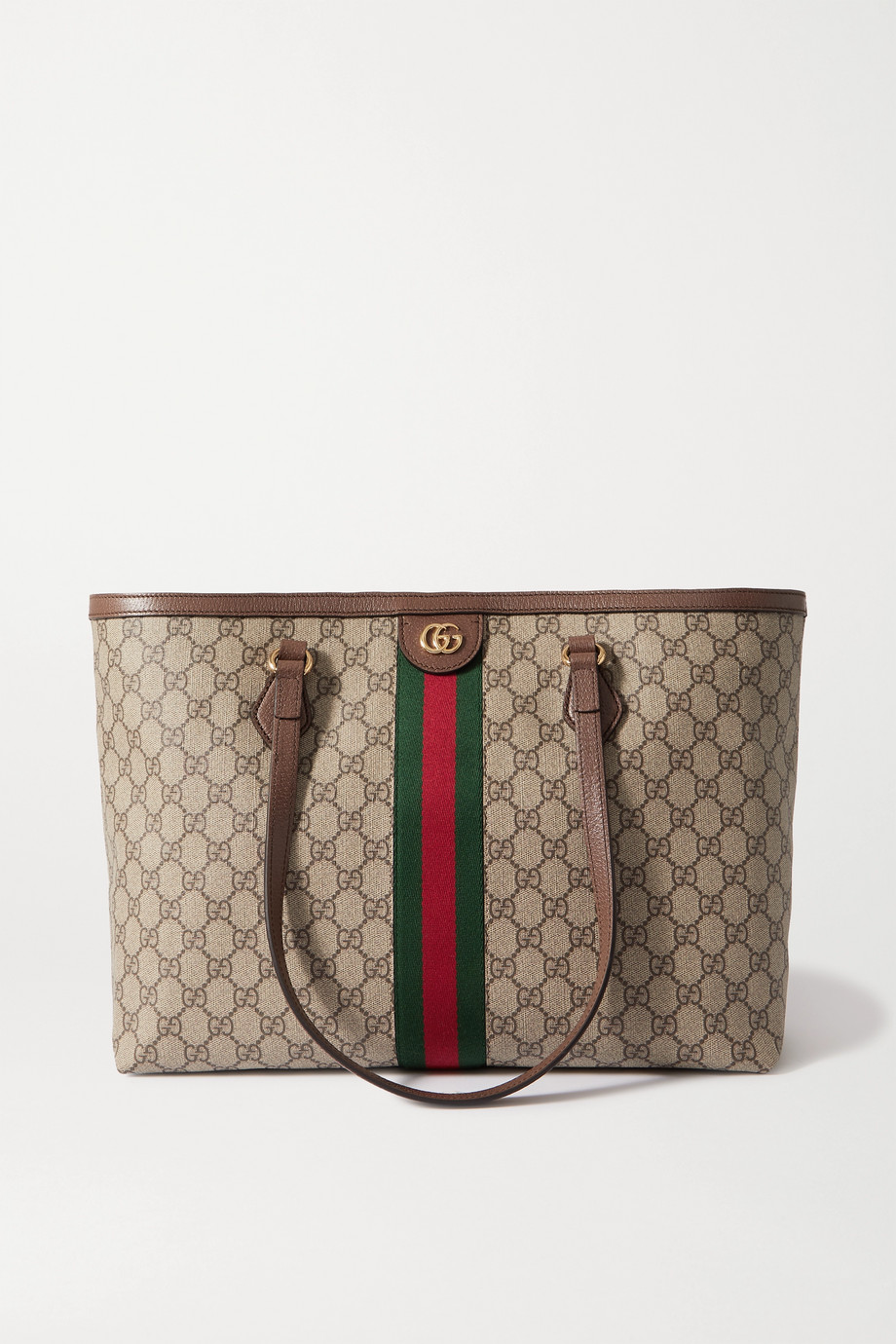 Gucci Sac à main en toile enduite imprimée à finitions en cuir texturé Ophidia Medium