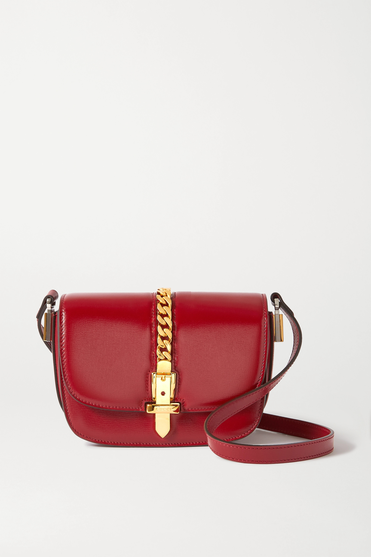 Gucci Sylvie 1969 mini chain-embellished leather shoulder bag